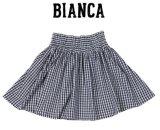 BIANCA子供服★ギンガムチェックハイウエストスカート