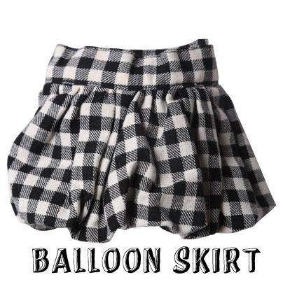 画像1: チェックバルーンスカート