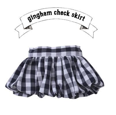 画像1: ギンガムチェックバルーンスカート