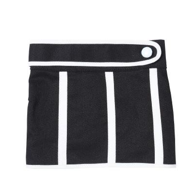 画像1: 白配色パイピングスカート