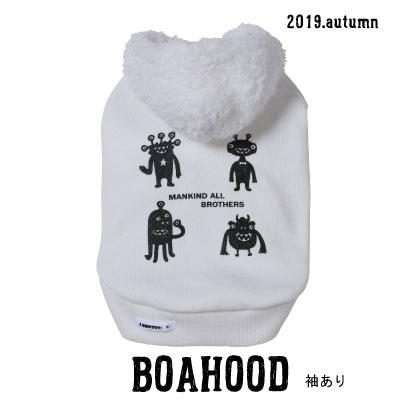 画像1: BOAフードパーカー(袖あり)★宇宙人プリント★
